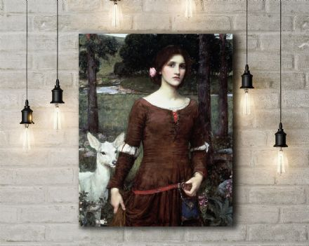 John William Waterhouse: The Lady Clare. Fine Art Canvas.